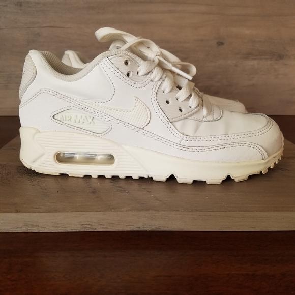 Nike Air Max 90 Womens 5.5 or Kids Size 4 White